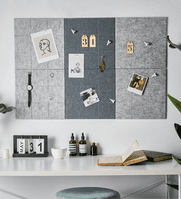 x2 Modern style Decoration Nordic Wall Message Board-Light Grey